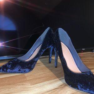 Blue Suede Heels Practically Unworn!